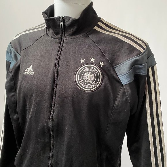 Adidas Deutsher FussBall Full Zip Jacket Lg